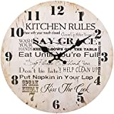 Jones Home and Gift Kitchen Rules Clock, Multi-Colour, 34 cm by Jones Home and Gift