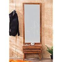 BL Wood Furniture Sheesham Wood Eva Dressing Table with Mirror for Living Room (Teak Finish)