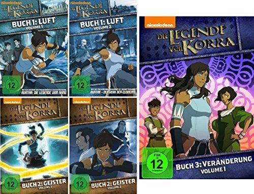 Die Legende von Korra - Buch 1, 2, 3.1 (1.1-3.1) im Set - Deutsche Originalware [5 DVDs] (Buch Korra 3 Dvd)