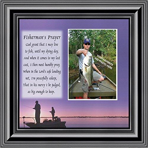 Fishermans Gebet, Persönlichen Fishermens Geschenke für The One You Love, Angeln Décor Bilderrahmen 10x 109701b
