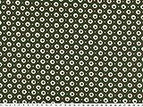 ab 1m: Baumwolle-Popeline, Äpfel, tannengrün, 145cm breit