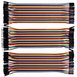 rgbzone 120pcs Multicolor Dupont alambre 40Pin macho a hembra, 40pines macho a macho, 40pines hembra a hembra protoboard Jumper Cables Cables de cin
