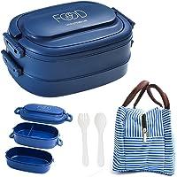 Boîte déjeuner hermétique avec sac isotherme, fourchette et cuillère, lunch box avec couverts, boite bento, idéale pique…