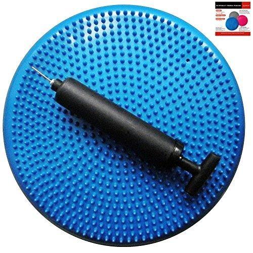 air-stability-wobble-cushion-blue-35cm-14in-diameter-balance-disc-pump-included