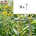 Doldenstützen 7 x 3-er Set (21 Teile) H.60 cm 10056 von bellissa bei Du und dein Garten