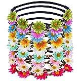 Diadema de Chicas Corona de Flor de Margarita de Multicolor Guirnalda Floral para Fiesta de Festival y Boda, 9 Piezas