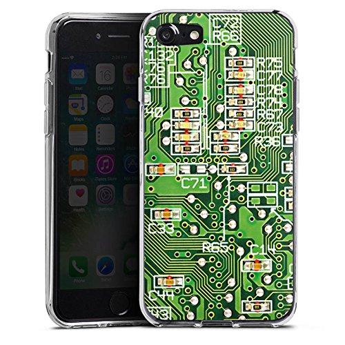 Apple iPhone X Silikon Hülle Case Schutzhülle Platine Computer Muster Silikon Case transparent
