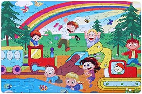 Box 80PCS 80PCS 80PCS Tin Jigsaw Puzzle en bois Cartoon Kids Puzzle Intelligence Jouets arc- | Luxuriant Dans La Conception  3490f0