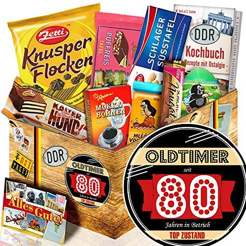 Oldtimer 80 - DDR Schokolade Ostpaket - Geschenke 80ten Geburtstag