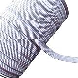 Chenkou Craft U Pick Gummiband, geflochtenes Elastikband, 45,7m, weiß, 10 mm