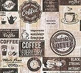 Papier Küchen Tapete Kaffe Coffee Cafe creme beige braun 33480-3