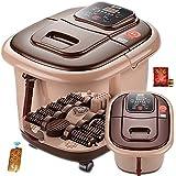 Baño de pies Spa Con calentador de agua (10 rodillos de masaje motorizado, se puede ajustar en tres velocidades diferentes, la lámpara se percibe la temperatura)