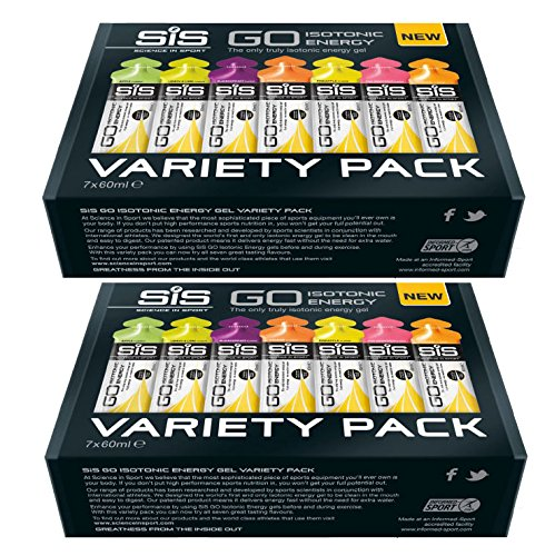 Science In Sport 7 Pack Variety Isotonic Gels 60ml x 2 (Pack of 2)