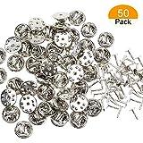 SelfTek 50 Paare Butterfly Clutch mit Pins für Kleidung Schmuckschnalle