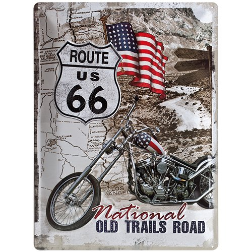 Nostalgic-Art 23136 US Highways - Route 66 Old Trails Road, Blechschild 30x40 cm (66 Route Metall-schilder Der)