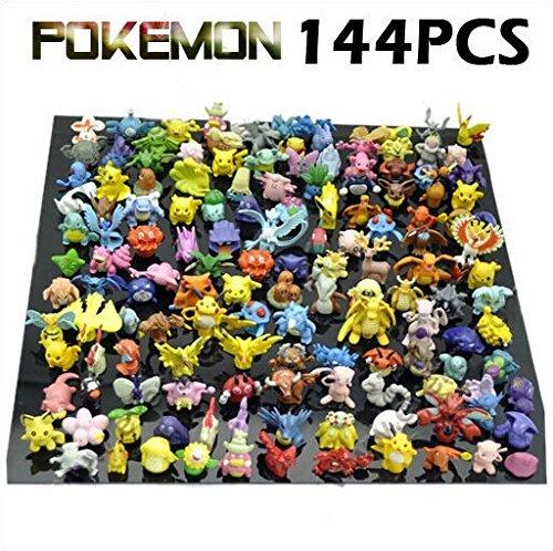 New Cute 144 pcs Pokemon Monster Mini figure 2-3cm in Random by JapanCos