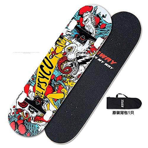 [skateboard]/Quattro ruote acero adulto professionale/Two-up Highway skateboard/Limite pennello Street tra uomini e donne/Bambini yo-B