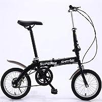ZXM Vélo Pliant de 14 Pouces, vélo Pliant Ultra-léger pour Hommes et Femmes Adultes, vélo d'équitation en Alliage d…