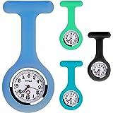 Juego de 4 broches de silicona para reloj de enfermera, con alfiler, clip, diseño de control de infecciones, cuidado de la sa