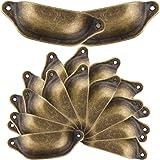 20 stuks schelphandvatten laden handvatten antieke vintage handgrepen brons meubelgreep halve cirkel met schroeven 9,8 cm x 3