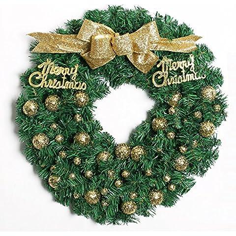 Decoración de Navidad guirnalda de Navidad ornamento cartas arco,Golden,50CM