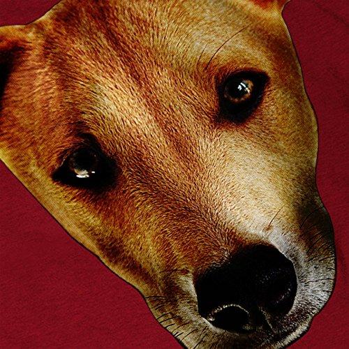jung Welpe Niedlich Komisch Hund Beste Kumpel Damen S-2XL Muskelshirt | Wellcoda Rot