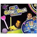Neon Knicklichter Glow in the Dark Partyset 249-teilig Ringe Kette Deko zum Gestalten und Basteln verschiedene Farben