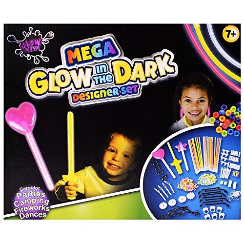 ow in the Dark Partyset 249-teilig Ringe Kette Deko zum Gestalten und Basteln verschiedene Farben (Halskette Glow-sticks)