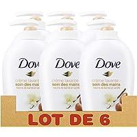 Dove Soin des Mains Savon Lavant Antibactérien Beurre de Karité & Vanille, Pour des mains douces et hydratées (Lot de 6x250ml)
