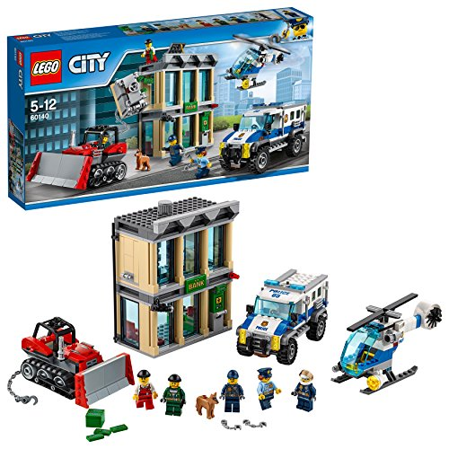 LEGO City Polizei 60140 - Bankraub mit Planierraupe, Konstruktionsspielzeug