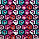 Jersey Stoff–Minnie Maus–Kreise–Jersey Stoff–swaj50–0,5m–Stretch Jersey Knit Stoff