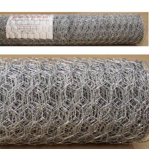 ESTEXO Sechseckgeflecht 100cm x10 m Hasendraht Kaninchendraht Maschendraht Drahtgitter verzinkt