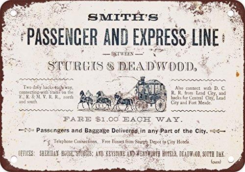 1882-deadwood-dakota-del-sur-stagecoach-aspecto-vintage-reproduccion-metal-tin-sign-7-x-10-pulgadas