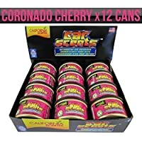 California Scents CCS-007 Car Automotive Air Freshener Coronado Cherry, Box of 12, Long Lasting Fruity Fragrance, Environmentally Friendly, Light Weight Organic Product, 12 Canisters, Also Used for Home Bathroom Van Office Taxi Etc. - ukpricecomparsion.eu