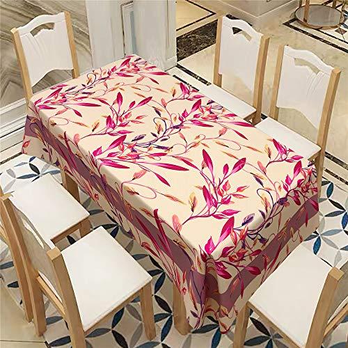 QWEASDZX Tischdecke Moderne Mode Rustikaler Stil Digitaldruck Ölbeständige und wasserfeste Tischdecken Rechteckiger Tisch Geeignet für den Innen- und Außenbereich 140x200cm