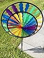 Wunderschönes Windrad | Rainbow in leuchtenden Farben | 2018 | Durchmesser 40cm | Länge 100cm | wetterbeständig | Windspiel | Windmühle | Windturbine | Magic Wheel twin | mit stabilem 80cm Stab | Regenbogen | Wind | Expressversand | molinoRC® BRD von