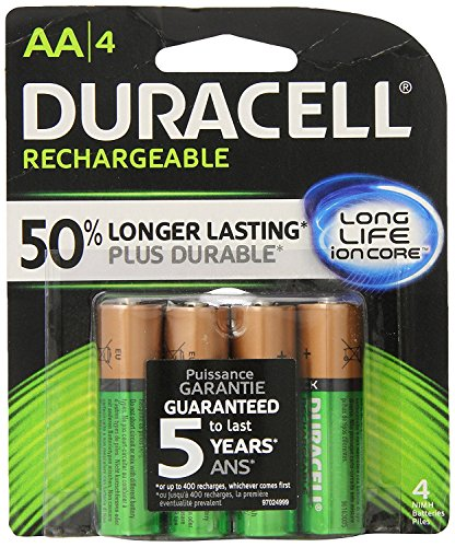 Duracell Coppertop Nimh Pre-Charged-Akku, Aa, vier/Packung -