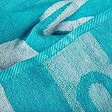 Point Saunatuch / Badetuch | viele Farben wählbar | 80 x 200 cm Baumwolle Frottee Handtuch | aqua-textil 0010684 türkis - 3