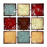 "Hosley's 24.75"" Square Metal Wall Decor Placque. Abstract. Ideal for Home, Weddings, Party. Home Office O4."