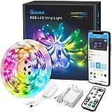 Govee LED Strip 5m, RGB LED strip, bestuurbaar via app en afstandsbediening, met muziekmodus, voor thuis, slaapkamer, keuken,