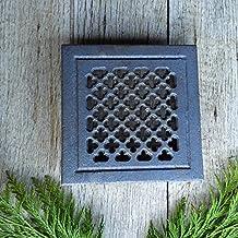 Antikas - reja ventilación estufa chimenea - reja de aire chimenea - cercas de aire de hierro
