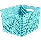 Curver 03612-X34-00 Korb My Style, Plastik, molokai blau, 35.5 x 29.6 x 22 cm