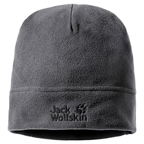 Jack Wolfskin Real Stuff Unisex Mütze, Grau (Grey/Heather), One Size, 19590