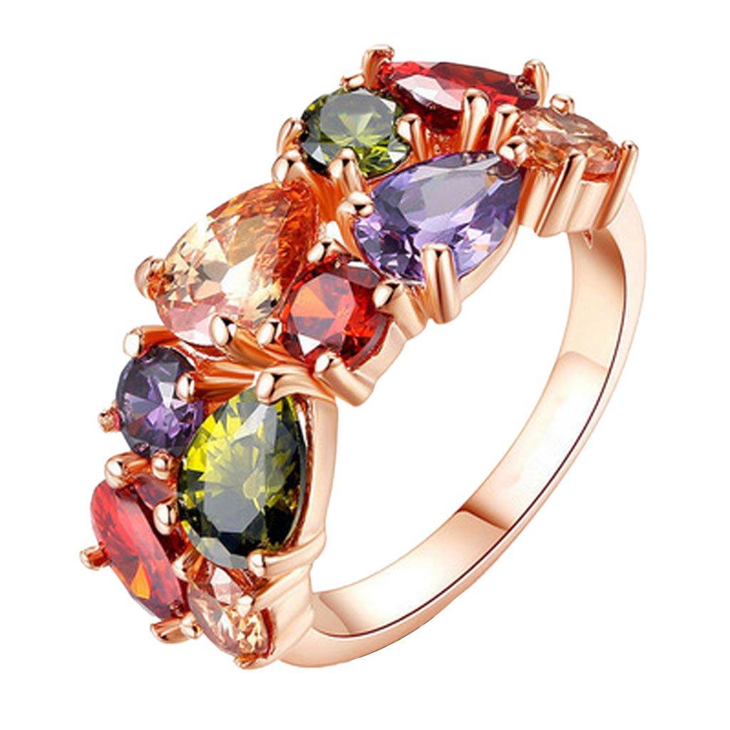 Anillo de dedo de moda para mujer elegante rhinestone anillo abierto ajustable encanto joyería regalo de cumpleaños para niñas por TheBigThumb