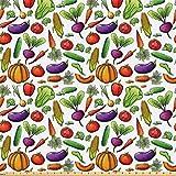 ABAKUHAUS Gemüse Stoff als Meterware, Autumn Harvest