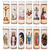 LUMINO H 21CM RELIGIONE tagebrenner CANDELA COMMEMORATIVA LUCE PER TOMBA DECORAZIONE FUNERARIA CANDELA