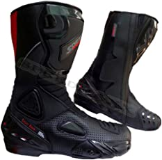 Black Hawk High Tech Scarpe/Stivali in Pelle da Uomo Moto Motocicletta/CE Racing