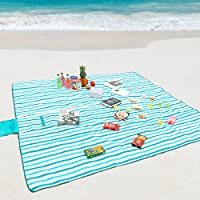 Wolfwise Picnic Manta Impermeable Arena Extra Grande Playa Al aire libre Camping Senderismo Aazul