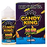 Authentisch Candy King Flavors 100ml e-shisha e-juice e-liquid 0mg kein Nikotin 80 VG 20 PG (Sour Worms)