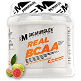 Bigmuscles Nutrition Real BCAA [50 Servings, Pink Guava] -100% Micronized Vegan, Muscle Recovery & Endurance BCAA Powder…